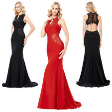 LONG Bridesmaid Dresses Formal Ball Gowns Evening Mermaid Prom Party Lace Dress
