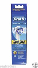 New Genuine Braun Oral B Precision Clean Replacement Toothbrush Heads