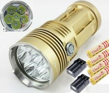 8500Lumen SKYRAY KING 6xCREE XML T6 torcia luce flash LED 4x18650 Caricabatteria