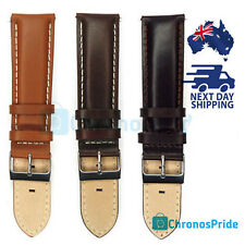 Watch Strap 22mm Band Brown Italy Genuine Leather Spring Bar Buckle Watchband