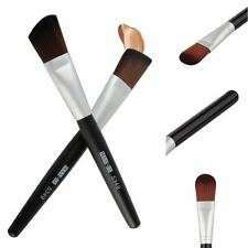 Womens Makeup Flat/Round Angled Wooden Liquid Foundation Powder Contour Brush