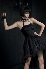 Punk Rave Gothic Punk Emo Lace and Satin Rose Dress Gothic Lolita UK Sizes 8 10