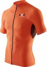 X-BIONIC The Trick Biking Man Bike Shirt Orange schwarz Trikot Kompression