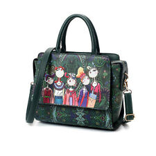 Lady Handbag Shoulder Bag Tote Purse Women Messenger Cartoon Art Crossbody Bag H