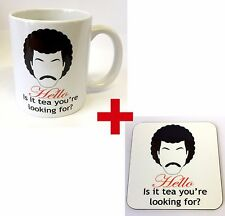 HELLO IS IT TEA YOU'RE LOOKING FOR  - NOVELTY MUG, COASTER OR BOTH. MADE IN UK