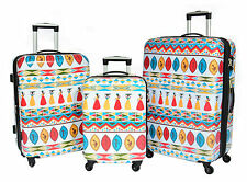 Multicoloured Luggage Suitcase AFRICA Tribal 4 Wheel Hard Shell TSA Lock Trolley