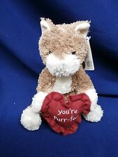 Boyds Plush Cat with Heart You're Purr-fect Valentine 82051