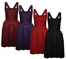 Womens Ladies Sleeveless Cross Back Strappy Pinafore Dungaree Skater Skirt Dress