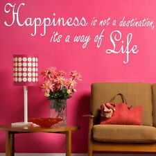 HAPPINESS NOT A DESTINATION decal wall art sticker quote transfer graphic DAQ17