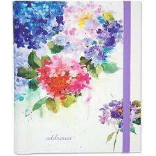 FREE 2 DAY SHIPPING: Hydrangeas Large Address Book (Hardcover-spiral)