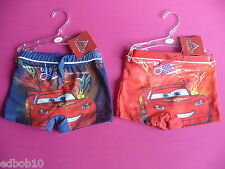 DISNEY PIXAR CARS boxer swimming trunks shorts red or blue Ages 2 3 4 5 6 years