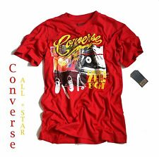 T-Shirt red *SHOE COLLAGE TEE* Kid's Shirt + big Patch *NEU by CONVERSE*All Star