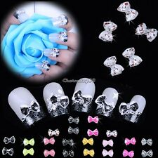 20PCS Nail Art Tips Slices Bow Tie Decoration Butterfly Acrylic Manicure C1MY