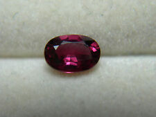 very rare Natural Red Ruby gem Afghanistan gemstone FLUORESCENT Genuine oval