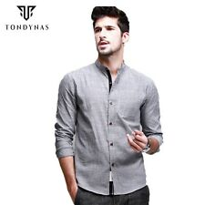 Man striped cotton long sleeve shirts,male casual turn-down collar slim shirts