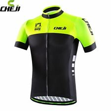 CHEJI Ropa Ciclismo Team Short Sleeve Mens Wear Cycling Jersey Bike Clothing T-s