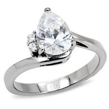 STK102PB PEAR CUT  3.2CT ENGAGEMENT RING SIMULATED DIAMOND RING WIL NOT TARNISH