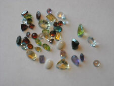 Mixed Natural Gemstones Package - Over 40 Carats Total Weight, Larger Gemstones
