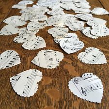 200 Vintage Music Heart Confetti Large 4cm Wedding Party Confetti