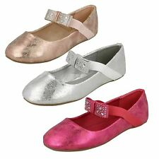 Girls Spot On Flat Ballerina Shoes with Bow Detail H2380