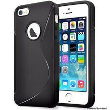 S-Line Case Gel Rubber Silicone Skin TPU Wave Back Cover For Apple iPhone 5/5s