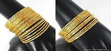 Gold Plated Bangles Bracelets Ethnic Design 12 and 24 pieces sets sizes 2.4-2.8