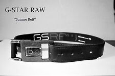 Gürtel by G-STAR Raw *Square Belt* new Leather black * Ledergürtel *NEU