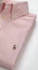 Ralph Lauren Woman Custom Fit Pink Stripe Oxford Shirt