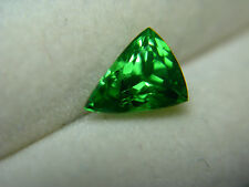 1.12ct rare Top Green Tsavorite Garnet Gemstone gem Tsavo Kenya shield trillion