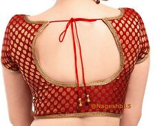 Readymade Saree Blouse, Red Sari Blouse, Designer Saree Blouse, Brocade Blouse