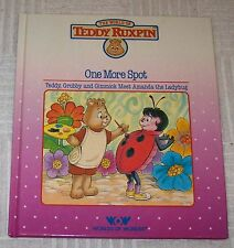 Vintage ONE MORE SPOT Teddy Ruxpin Worlds of Wonder Book