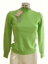 Maglia donna EAST Woman tg 42 Verde mela 100% Cashmere Made in Italy Jumper