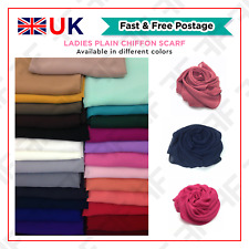 Ladies Plain Chiffon Scarf Women Top Quality Large Maxi Hijab Shawl Head Piece