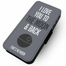 Love you to Moon and Back   Printed Faux Leather Flip Phone Cover Case   #2