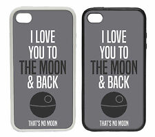 Love you to Moon and Back   Rubber or plastic phone cover case   Deathstar #2
