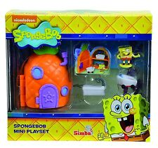 simba Spongebob squarepants mini play set pineapple krusty krab and squidwards
