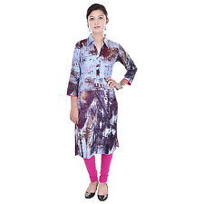 Indian Ethnic Rayon Designer Printed Casual Wear Kurti Kurta VIKU_5011