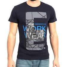JACK & JONES CORE uomo maglietta LEO blu scuro