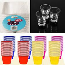 60 x 170ml Party Mug Plastic Drink Colour Food Grade Party Cups + Cups Drinking