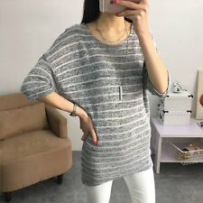 Women Casual Knitted Sweater Batwing Sleeve Jumper Knitwear Coat Blouse Tops