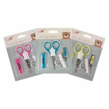 Handy 4 Piece Baby Grooming Set Nail Cutter Clippers, Scissors Toddler Maternity