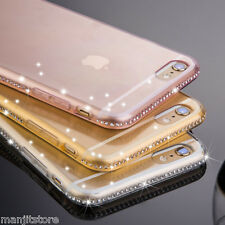 Diamond Bling soft Transparent TPU back Case Cover For Apple iPhone 6 Plus