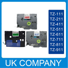 Great Quality Compatible For Brother P-Touch Tze Label Tape 6mm x 8m