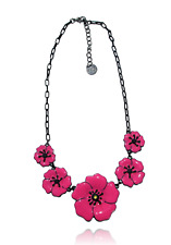 Lol Bijoux - Collier Coquelicot - Rose Hollywood - Lolilota