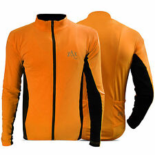 Mens Cycling Jersey Full Sleeves Cold Wear MTB Jersey Outdoor Team Jacket