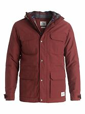 Quiksilver Long Bay Parka Jacket in Rosewood