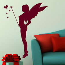 Fairy Wall Stickers! Girls Room Angel Art Decor, Cute Wand Stars & Hearts X82