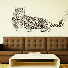HUGE LEOPARD CAT WALL ART STICKERS GRAPHIC DECALS TRANSFER LARGE BEDROOM CA4 WOW