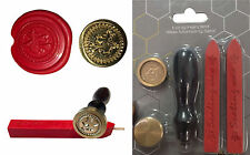 Wax Seal Stamp +2 sticks Wax Witch On Broomstick Craft Cards Invites 278