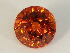 Natural Spessartite Garnet 1.47 CT. Round Bright Fanta Orange